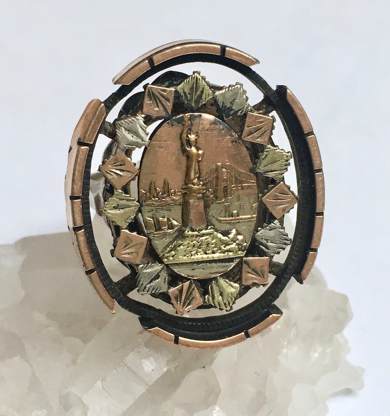 antique statue of liberty ring size 7