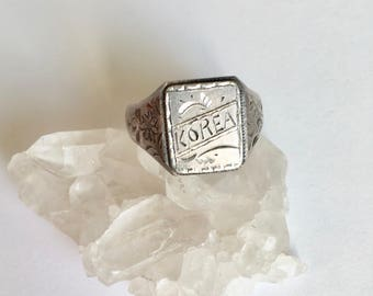 vintage Korea ring, 1946, size 10.25