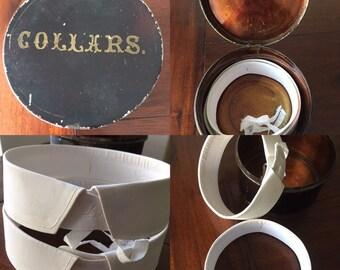 Antique Metal Collar Tin