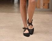 Black summer sandals, Harper.