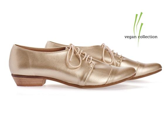shoes oxford etsy by Tamar VEGAN Gold on handmade Shalem q7PntR