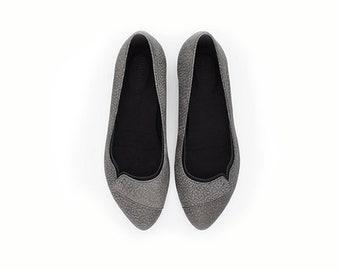 Gray dress shoes, Nina