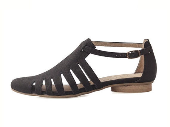 shalem Sandals Handmade Sandals on tamar sandals Alice Flats Flat by etsy Black Leather wxcOHvnqn
