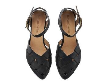 Black  braided boho Sandals, Sophie