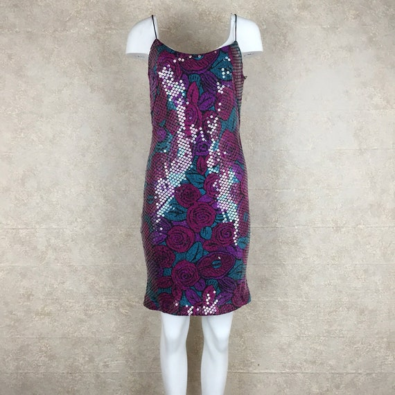 Vintage 1990's  Sequin Slip Sheath Dress