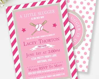 girls baseball baby shower baseball baby shower all star shower pink baseball shower couples baby shower baby shower invite s1