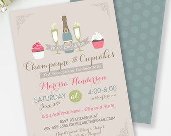 champagne and cupcakes bridal shower invitation shabby chic bridal shower cupcakes and cocktails wedding shower mimosa shower 34