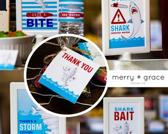 Shark Party Signs, Sharknado Inspired Party, Boy Birthday Party, Pool Party Signs, Boy Shark Party, Shark Bait Sign, Danger Shark Sign, 72-1
