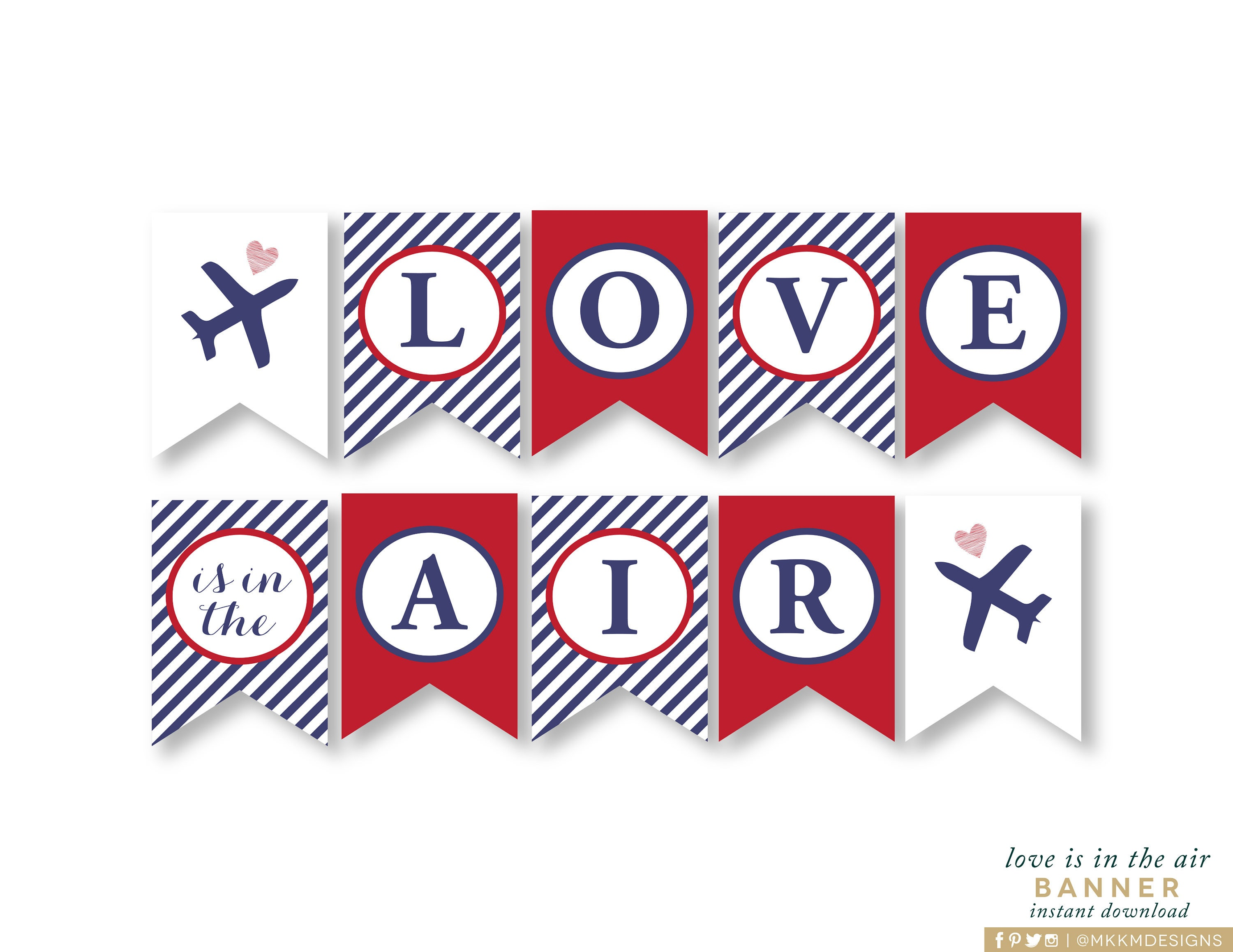 Love is in the Air Banner Travel Shower Banner INSTANT | Etsy