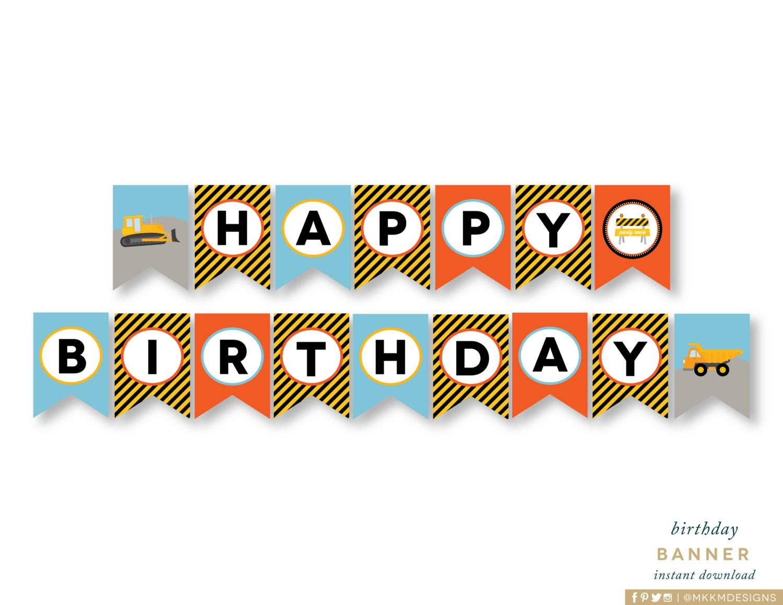 DESCARGAR Banner de feliz cumpleaños fiesta de cumpleaños de   Etsy
