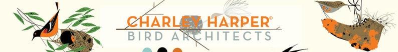 - Birch Fabrics 100/% Organic Cotton Poplin 1 yard The Pines in Sky Charley Harper Bird Architects