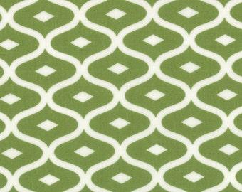 Moda Simply Style Geometric Ogee Lime Green - 1 yard
