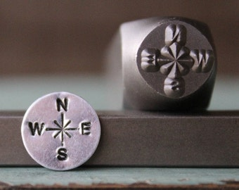 SUPPLY GUY Compass 3 Stamp Metal Punch Design Stamp Set SGCH-127//115//122