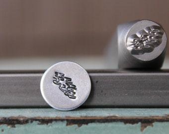 SUPPLY GUY 8mm Mountain Log Cabin Metal Punch Design Stamp SGCH-400