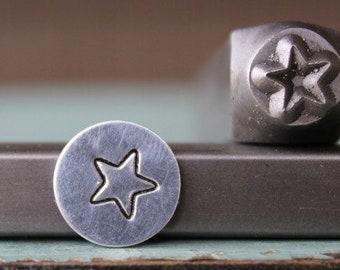 SUPPLY GUY 5mm Nine Point Star Metal Punch Design Stamp SGCH-292