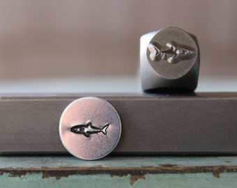 SUPPLY GUY 6mm//8mm Mama and Baby Shark Metal Punch Design 2 Stamp Set SGCH377376