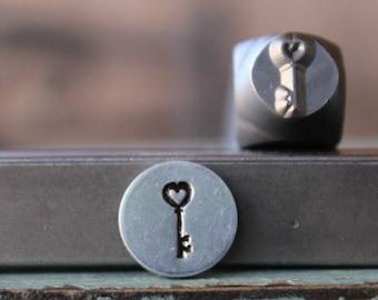 6mm Design Stamping Tool Hand Stamping Key Symbol Metalwork Tool Key Metal Stamp Key Jewelry Stamped Jewelry UK Seller