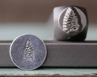 SUPPLY GUY 5mm Simple Pine Tree Metal Punch Design 2 Stamp Set SGCH-278279