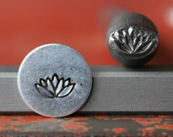 Made in the USA SUPPLY GUY 4mm 8 Petal Flower Metal Punch Design Stamp SGF-8