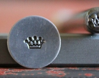 Crown Metal Design Stamp - Metal Stamp - Metal Stamping and Jewelry Tool SGB-4