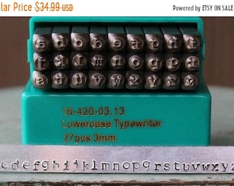Sale Brand New 3mm Typewriter Font Alphabet Letter Lowercase Stamp Set - Metal Stamp Set - Metal and Jewelry Stamping Tool - SGCH-TPL3MM
