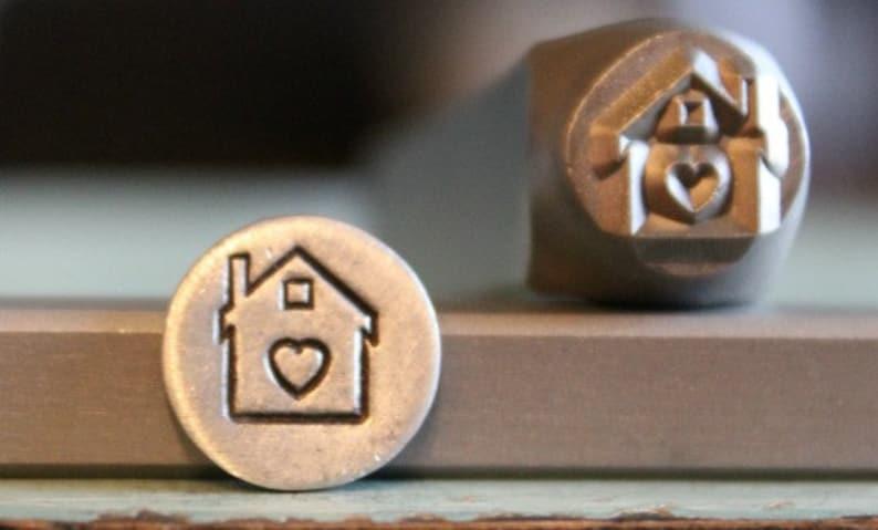 8mm-Haus mit Herz aus Metall Design Stempel Metallstempel | Etsy