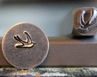 6mm Swallow Bird Metal Design Stamp - Metal Stamp - Metal Stamping and Jewelry Tool - SGUB-4