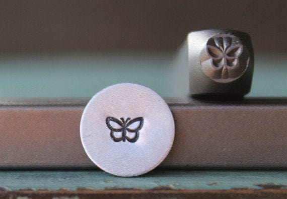 SUPPLY GUY 5mm and 3mm Butterfly Metal Punch Design 2 Stamp Set SGCH-145146