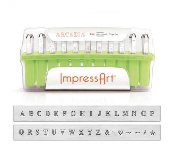 Arcadia Stamps Metal Stamping Kit Metal Stamps Alphabet Stamps 3mm Letter Stamps Impressart Kit Impressart Tools