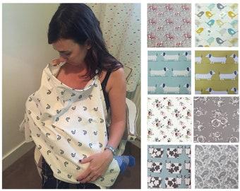 0433388394e01 NURSING Cover, BREASTFEEDING COVER, Baby Shower gift, breastfeeding shawl,  Nursing Apron, modesty blanket, mum / toddler poncho