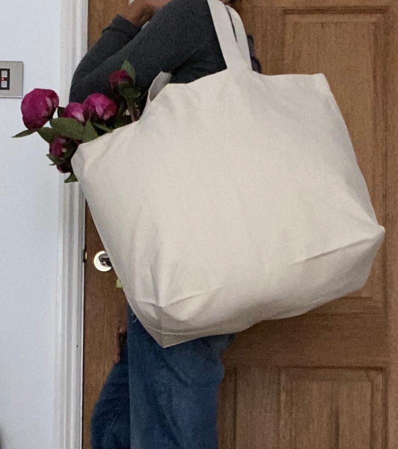 maxi beach bag LARGE BEACH BAG ORGANiC COTToN ToTE bag Oversized canvas bag tote Tote handbag Large canvas shopper