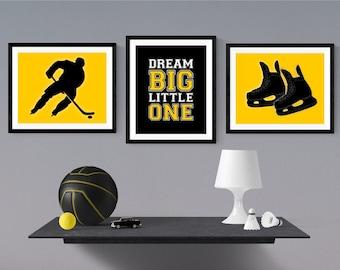 Hockey Nursery Decor   Hockey Bedroom Wall Art   Game Room Wall Decor    Hockey Decor