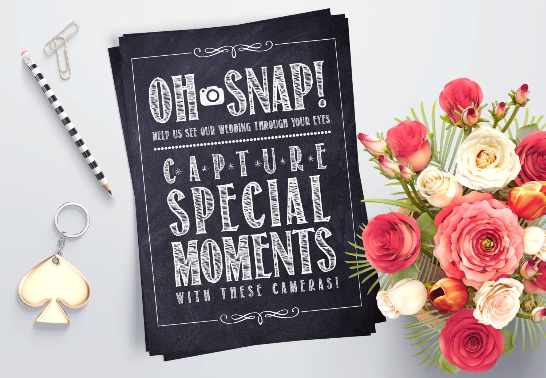 Printable Wedding Instant Camera Sign Rustic Chalkboard Etsy