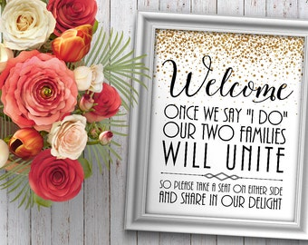 Take a Seat Wedding Sign - Wedding Seating Sign - Ceremony Seating Sign - Wedding Decor - Ceremony Decorations - Take a Seat Not a Side