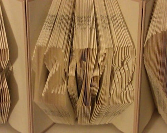 """Folded Book Art """"Date"""" - Made to Order"""