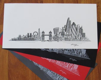 London Skyline Illustration Print