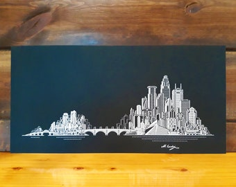 Minneapolis, St. Paul Skyline Art