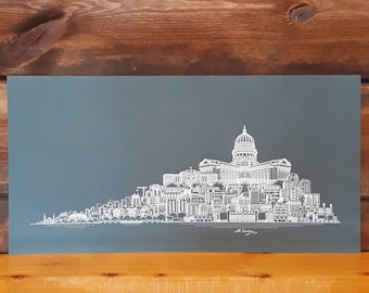 Madison WI Skyline Art