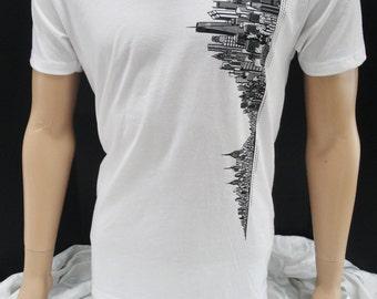 New York Skyline T-shirt V-neck