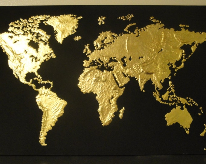 Featured listing image: Golden World Sculpted Painting.