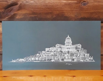 Madison WI Skyline Art
