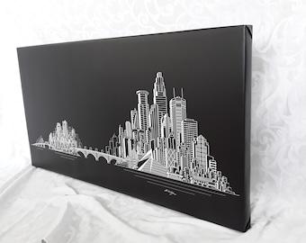 Minneapolis Skyline Canvas frame