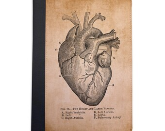 Vintage Medical Illustration Heart Folio Case For The iPad Mini 1,2,3 and 4