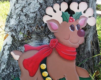 rudolph wood christmas yard art outdoor reindeer christmas decoration