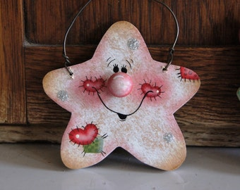 Christmas Wood Star Ornament