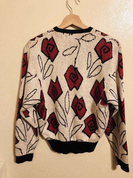 Vintage 80's Mock Wrap Sweater