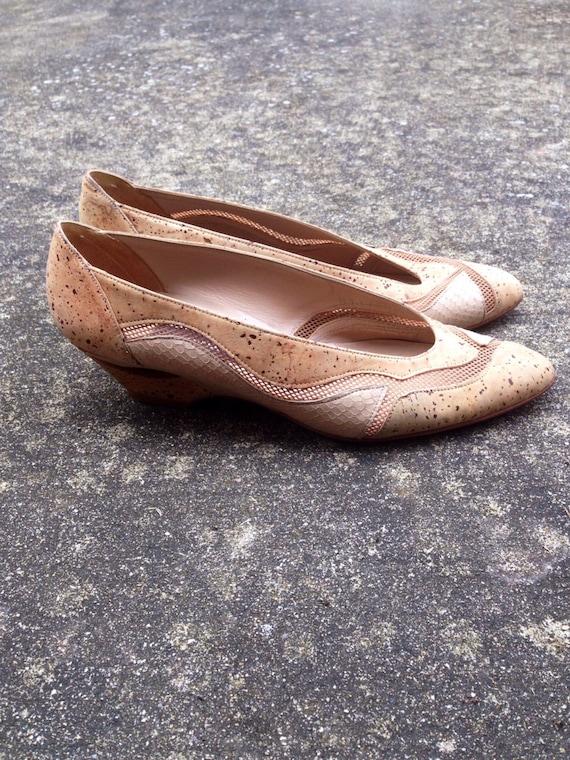 Vintage Cork Staurt Weitzman Shoes.