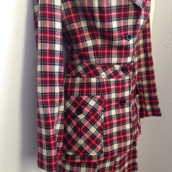 1970's Vintage Plaid Suit
