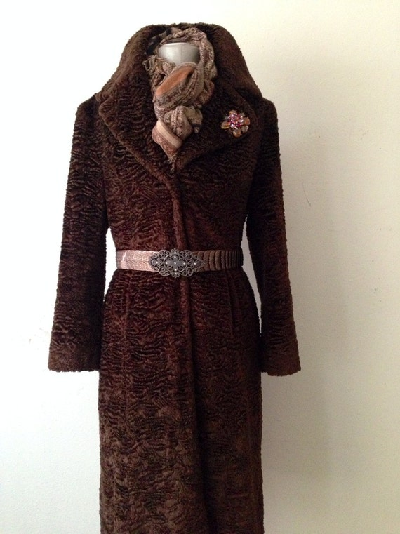 Vintage Faux Fur Midi Muppet Coat