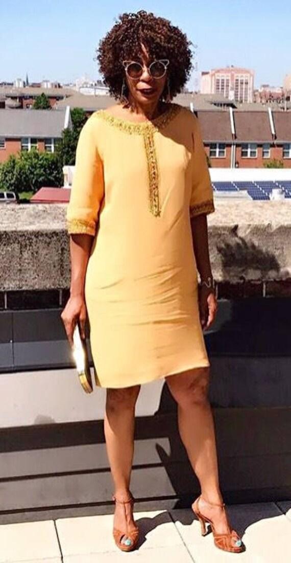 Vintage Renmor Crepe Tunic Dress